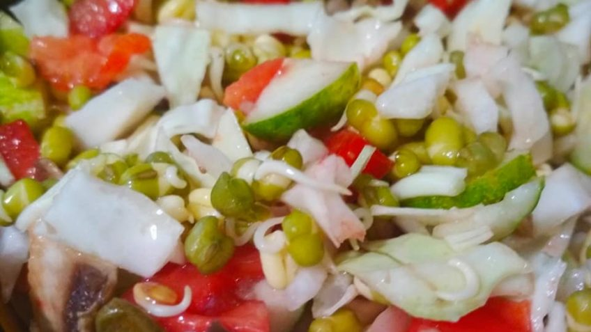 vegan recipe salad mung beans